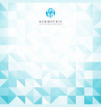 abstract gray triangle and square in blue and vector image
