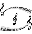 abstract music elements vector image