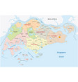 administrative divisions map of the republic of vector image vector image