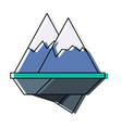 alps mountains icon vector image vector image