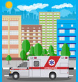 ambulance car emergency vehicle hospital transport vector image