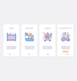 baby transport accessory ux ui onboarding mobile vector image