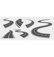 bending roads driving asphalt strip road curve vector image vector image
