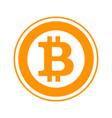 bitcoin flat symbol vector image vector image