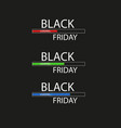 black friday with loading bar black friday sale vector image vector image