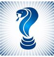 Blue simple snake logo