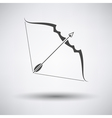 Bow and arrow icon vector image vector image