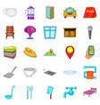 bursa icons set cartoon style vector image vector image