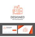 business logo template for packaging branding vector image