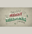 christmas and new year vintage greeting card with vector image