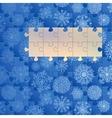 Christmas blue concept card EPS8 vector image