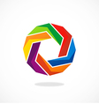 circular abstract geometry colorful logo vector image vector image