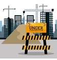 city under construction cityscape background icon vector image vector image