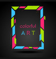 colorful geometric hipster style frame vector image