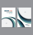 cover template for brochure vector image