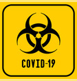 covid19-19 biohazard warning poster vector image