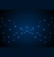 dark blue glowing circuit board tech background vector image vector image