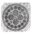 Deans eye rose window in the North Transept of vector image vector image