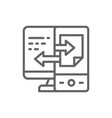 device data transfer file synchronization line vector image vector image