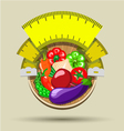 Dieting sticker vector image vector image