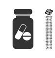 drugs phial icon with work bonus vector image vector image