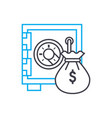 financial reinsurance thin line stroke icon vector image