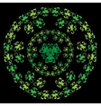 Floral green pattern vector image vector image