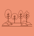 forest landscape scene icon vector image vector image