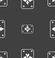 game cards icon sign Seamless pattern on a gray vector image vector image