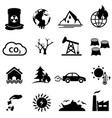 global warming and climate change icon set vector image vector image