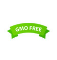gmo free label icon - label with vector image