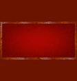 golden frame on a red background vector image vector image