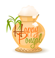 happy pongal symbol vector image