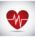 heart cardio pulse icon vector image vector image