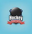 hockey logo template design vector image vector image