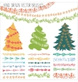 Holiday garland brushesChristmas doodle kit vector image vector image