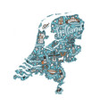 holland map vector image vector image