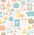 Housekeeping Seamless Pattern vector image