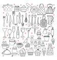 I love cooking Kitchen utensils collection vector image