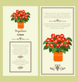 impatiens flower in pot banners vector image vector image