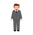 isolated businessman icon vector image vector image