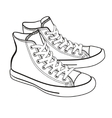 Isolated cartoon sneakers lineart