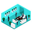 isometric office room rear view vector image