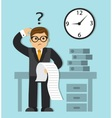 lack of time and a long list of tasks vector image