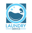 laundry service logo for professional cleaning vector image vector image