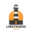 lighthouse vintage logo icon design template vector image