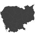 map of cambodia split into regions vector image vector image
