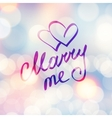 marry me vector image vector image