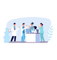 medical consultation concept doctors characters vector image