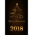 merry christmas celebration abstract background vector image vector image
